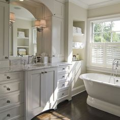 Traditional Bathroom Wood Floor Bathroom Design, Pictures, Remodel, Decor and Ideas