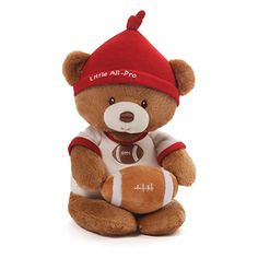 Gund Baby Teddy Bear and Rattle Little All Pro Football ** Check this awesome product by going to the link at the image.Note:It is affiliate link to Amazon.
