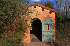 Blue Door by Kevin Mcenerney Seattle Area, Mediterranean Garden, Exterior, Cabin, Doors, Tucson, House Styles, Building, Outdoor Decor