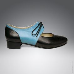 soo cute!! Schnürer-Pumps in schwarz türkiser Farbe aus Nappaleder – Eleganz beginnt mit ZARIFA