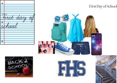 """""""First day of school"""" by halogirl-797 on Polyvore"""