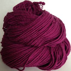 COTTON YARN worsted weight Maroon, Marsala reclaimed handspun yarn Wine cotton yarn saori weaving yarn