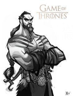 Game of Thrones: Khal Drogo (sketch) by Bing-Ratnapala on deviantART