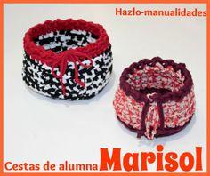 ¡Participa en los cursos de Hazlo Manualidades! Nuestras alumnas están encantadas y muestra de ello son sus maravillosos trabajos. Marisol nos trae dos cestas fantásticas, ¡muy originales!