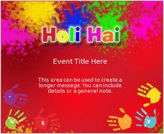 Holi Splash   Holi Invitation, e-Card greeting   EventEve.com