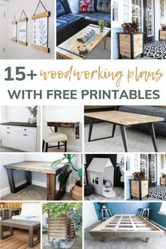 As a beginner woodworker, free simple plans are the best place to start! Check out these 15+ free woodworking plans that are sure to inspire your new woodworking hobby! #free #beginners #woodworking
