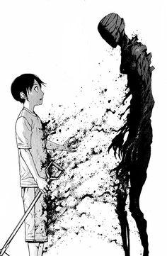Manga: Ajin: Demi-Human by Gamon Sakurai All credits goes to the creator Ajin Manga, Ajin Anime, Manga Art, Manga Anime, Anime Art, Dark Fantasy Art, Dark Art, Demi Human, Image Manga