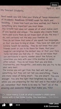 Standardized testing parent letter freebie new games lets i will definitely use this for my students so that they realize the are smart and have so much going for them beyond their test score publicscrutiny Choice Image