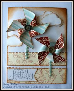 Pinwheel Birthday by mistylynn - Cards and Paper Crafts at Splitcoaststampers
