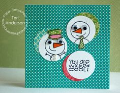 Card by PS DT Teri Anderson using the PS stamp set Freezy Fellas