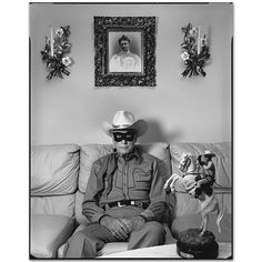 """Bid now on Clayton Moore, """"The Lone Ranger"""" at Home, Los Angeles by Mary Ellen Mark. View a wide Variety of artworks by Mary Ellen Mark, now available for sale on artnet Auctions. Mary Ellen Mark, Rare Photos, Old Photos, Vintage Photos, Clayton Moore, Street Photography, Art Photography, Photography Portfolio, Movies"""