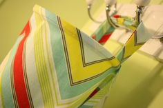 Extra-wide nursing cover for breastfeeding moms, multicolor zigzag / chevron--ready to ship. $25.00, via Etsy.