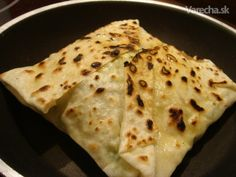 Gözleme (fotorecept) - Recept Flatbread Pizza, Ravioli, Quiche, Goodies, Flat Bread, Cheese, Erika, Ethnic Recipes, Sweet