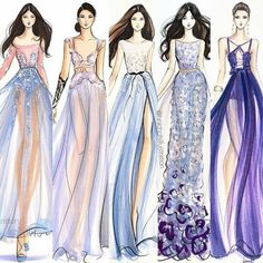 Drawn gown fashion drawing - pin to your gallery. Explore what was found for the drawn gown fashion drawing Illustration Mode, Fashion Illustration Sketches, Fashion Sketchbook, Fashion Sketches, Clothing Sketches, Design Illustrations, Moda Fashion, Trendy Fashion, Fashion Art
