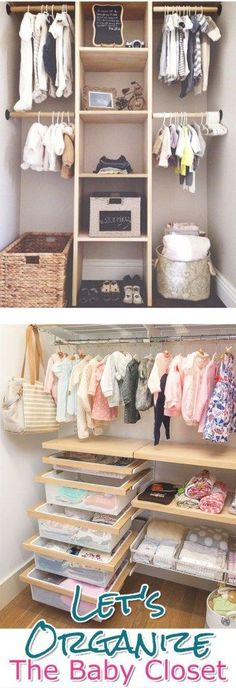 Baby Closet Organization Ideas - How To Organize the Baby Closet - DIY Nursery Closet Organization Ideas #nurseryideas #homedecorideas #diyhomedecor #diyroomdecor #organizingideas #diyprojects #momhacks #lifehacks