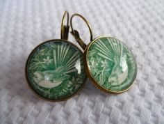Vintage NZ Stamp Fantail Earrings Glass Domes, Signature Style, Handmade Necklaces, Jewelry Crafts, Cuff Bracelets, Jewelery, Felt, Bronze, Pendants