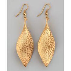 Panacea Twisted Hammered Drop Earrings $32