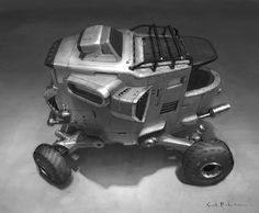 sci fi vehicle by Scott Robertson
