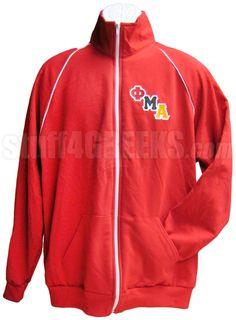 Phi Mu Alpha Logo Track Jacket, Red  Item Id: PRE-TRK-FMALOGO-AA5455  Price:  $69.00