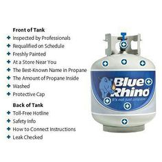 """Here 12 reasons why We're Not Just Propane…  Check out the link, www.bluerhino.com/BRWEB/Tank-Exchange/About-Tank-Exchange.aspx and click on the """"Features"""" tab for more details.     Did you know Blue Rhino also makes grills, heaters, fire pits and accessories, barbecue accessories and much more? Tell us what Blue Rhino product is your favorite."""