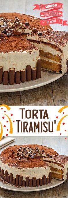 Torta tiramisù Easy Desserts, Delicious Desserts, Yummy Food, Torta Ferrero Rocher, Blog Patisserie, Cookie Recipes, Dessert Recipes, Granny's Recipe, Torte Cake