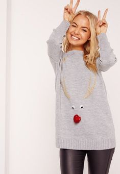 28 Festive AF Statement Pieces to Snag for an Ugly Sweater Party via Brit + Co