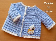 Free Baby Crochet Pattern-Tommys Jacket - A cool and cute newborn baby jacket, this pattern is an addition to my baby Tommy& range. Made in DK (light worsted weight) yarn, using a hook. Crochet Baby Jacket, Crochet Baby Sweaters, Crochet Pants, Crochet Coat, Crochet Bebe, Crochet Baby Clothes, Crochet For Boys, Newborn Crochet, Baby Knitting