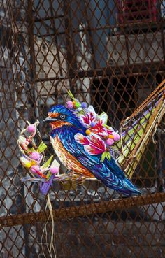 In her project Borders and Boundaries, embroidery artist Danielle Clough – featured previously – weaved a beautiful colourful bird into wired fencing, as commissioned by United Nations for the lead up...