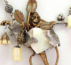 Monkey Shine Art Nouveau Necklace Victorian by DesignsBloom, $74.99