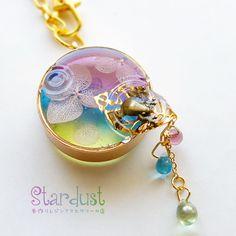 【受注製作】水に揺蕩う紫陽花.*・゚バッグチャーム *プリザーブドフラワー* 和風 梅雨