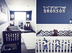 quarto bebe masculino azul marinho