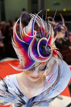 Welcome To Glitterati Hair & Beauty Salon Weybridge Work Hairstyles, Creative Hairstyles, Fantasy Hair, Fantasy Makeup, Competition Hair, Avant Garde Hair, Crazy Hair Days, Corte Y Color, Hair Shows