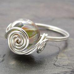 Shari Barry Lampwork Boro Glass Bead Sterling Silver by KimsJewels, $14.00