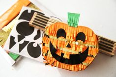 Halloween Candy Holder featuring the Mini Piñata Kits by Eva Pizarro for We R Memory Keepers. Halloween Candy, Halloween Decorations, We R Memory Keepers, Diy Party, Hello Everyone, Ruler, Teaching Ideas, Classroom, Projects