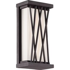 """George Kovacs Hedge 10""""H LED Bronze Outdoor Wall Light ($137) ❤ liked on Polyvore featuring home, outdoors, outdoor lighting, brown, rectangular box, bronze light, george kovacs by minka, outside patio lights and outside light"""