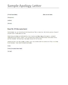 Professional Apology Letter - Free sample letters of ...