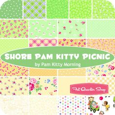 Shore Pam Kitty Picnic Fat Quarter Bundle Pam Kitty Morning for Lakehouse Dry Goods - Fat Quarter Shop
