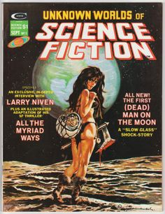 Unknown Worlds Of Science Fiction #5, September 1975, VF/NM, Puigdomenech (Sebastía Boada) cover art, interior artwork by Gene Colan, Howard Chaykin, Gray Morrow, Virgilio Redondo, and John Allison. Interview with Larry Niven and an adaptation of one of his stories. Howard Chaykin frontispiece. $17.10