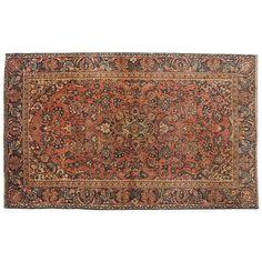 "6'6"" x 3'11"".Vintage Persian rug, Traditional area rug for sale, Oriental floor carpet, Floral design, Hand knotted, area rug, Vintage wool rug, Code : S0101312"