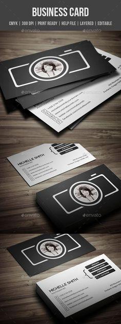 Photographer Business Card - PSD Template • Download ➝…