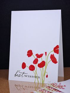 Gorgeous CAS/One Layer card -Notecards 2 by Nerina's Cards, via Flickr