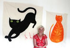 Painting cats by Hazel Terry, via Flickr