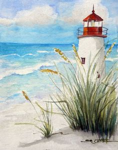 Lighthouse on the Beach (Sue Lynn Cotton)