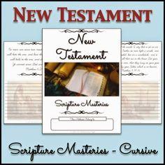 LDS Notebooking: New Testament Scripture Masteries Copywork Notebook - Cursive