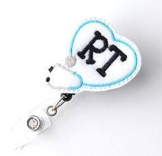 Respiratory Therapist Badge Pull - Cute Badge Reels - Unique Retractable ID Badge Holder - Felt Badge Reels - RT Badge Clip - BadgeBlooms