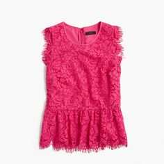 J.Crew Gift Guide: women's lace peplum top.