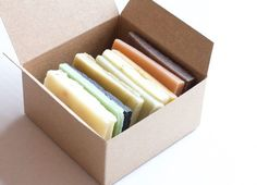 Natural Soap Ends Sampler, Homemade Soap, Natural Skincare, Rustic Decor, Handmade Soap, Soap Box, Rustic soaps, essential oil soap sample Every batch of soap has 24 odd ends they usually party together in some corner or the studio feeling somewhat less valuable than the perfectly