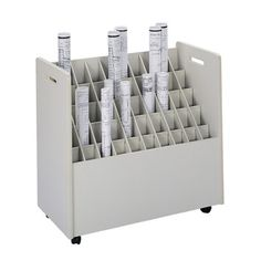 *Photography Back drop storage cart. Safco Products Company Laminate Mobile 50 Compartments Roll Files
