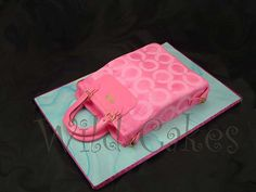 Pink coach purse cake...I SO shoulda made THIS one for @Kristy Wilga Whiteside's return to work!