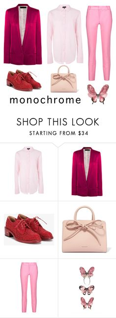 """Pink as hell"" by penelopevalentine ❤ liked on Polyvore featuring Topshop, Haider Ackermann, Laurence Dacade, Mansur Gavriel and Raoul"